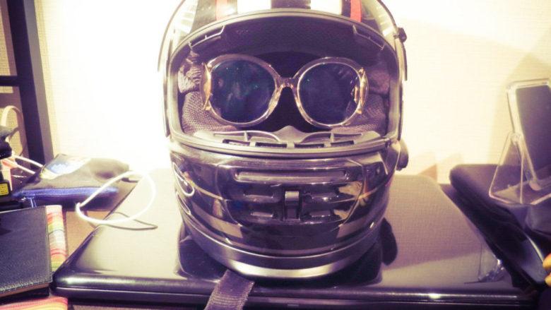 サングラスをフルフェイス用メガネに改造してみた